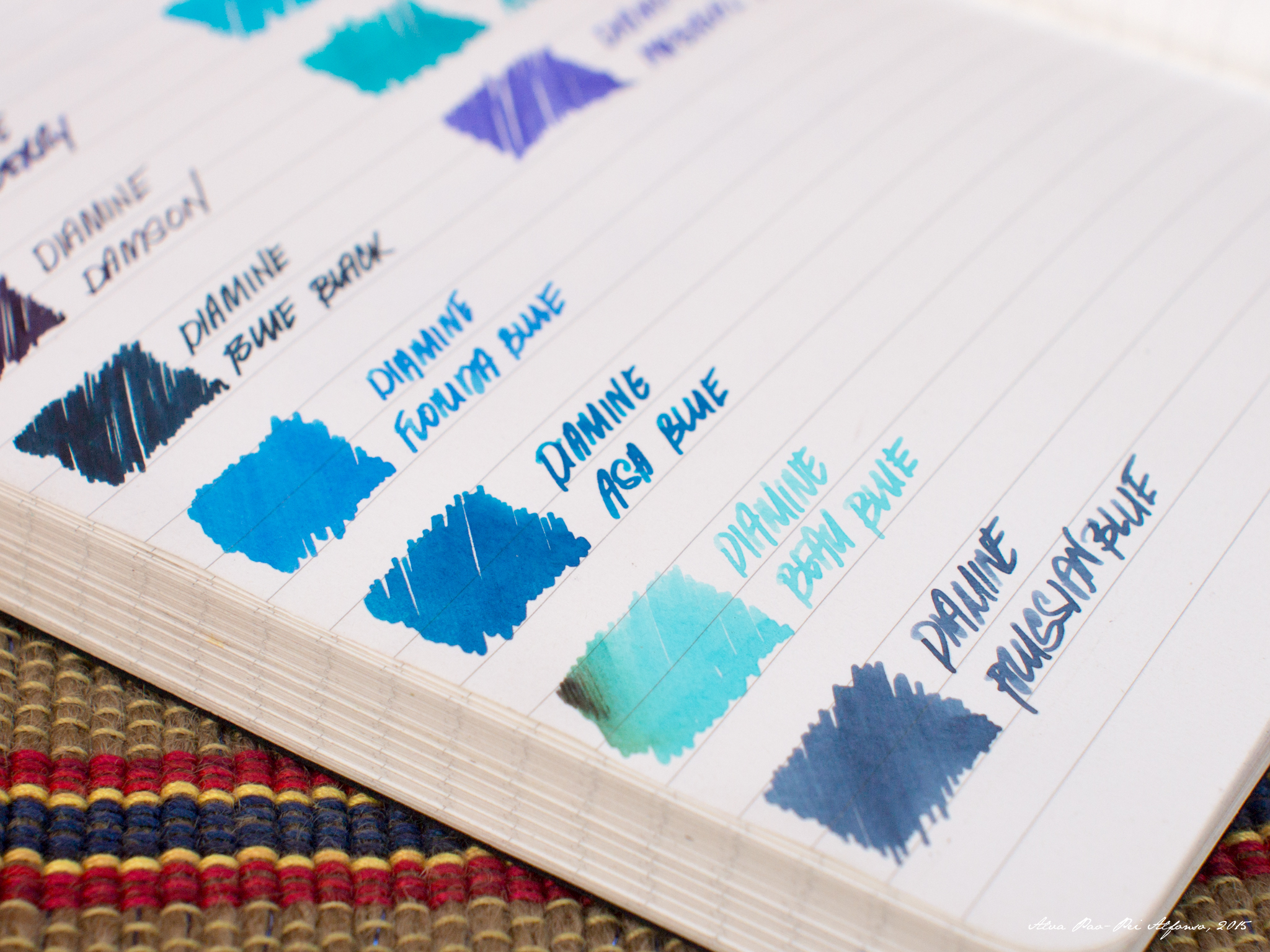 Diamine Purples and Blues are available at Elias Notebooks